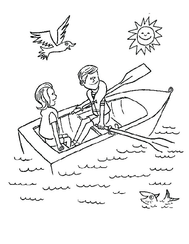 612x792 Row Your Boat Coloring Pages Rowing Colouring Page Fuhrer Von