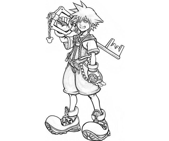Roxas Coloring Pages