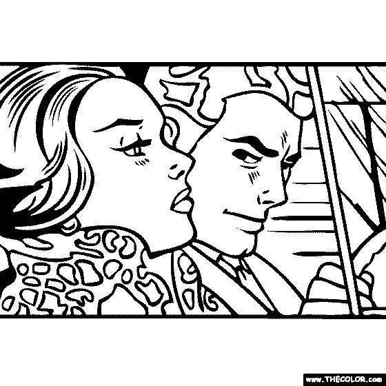 Roy Lichtenstein Coloring Pages