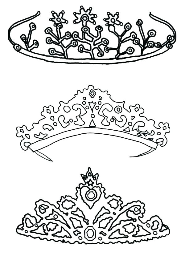 600x844 Crown Coloring Page Tiara Coloring Page Crown Coloring Pages Type