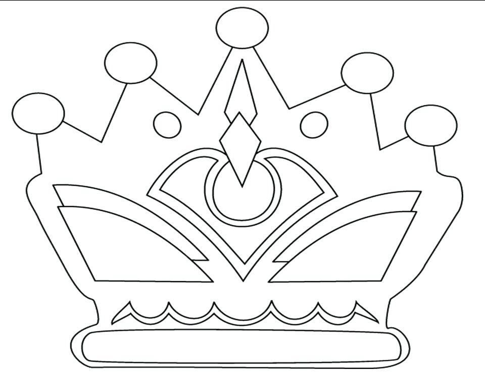 960x741 Crown Coloring Pages Coloring Pages Crown Princess Page Beautiful