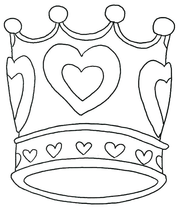 600x691 Crown Coloring Pages Coloring Pages To Print Crown Coloring Page
