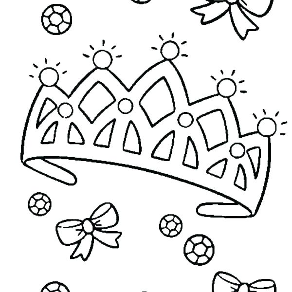 600x600 Crown Coloring Pages Princess Crown Coloring Pages Diamond