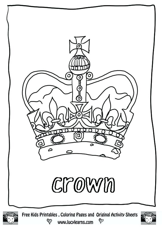 569x800 Crown Colouring Pages Princess Crown Coloring Page Related Post