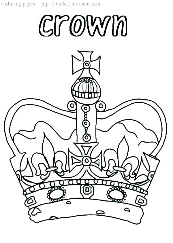 600x844 Crown Printable Template Pdf Crown Coloring Page Drawing Crown
