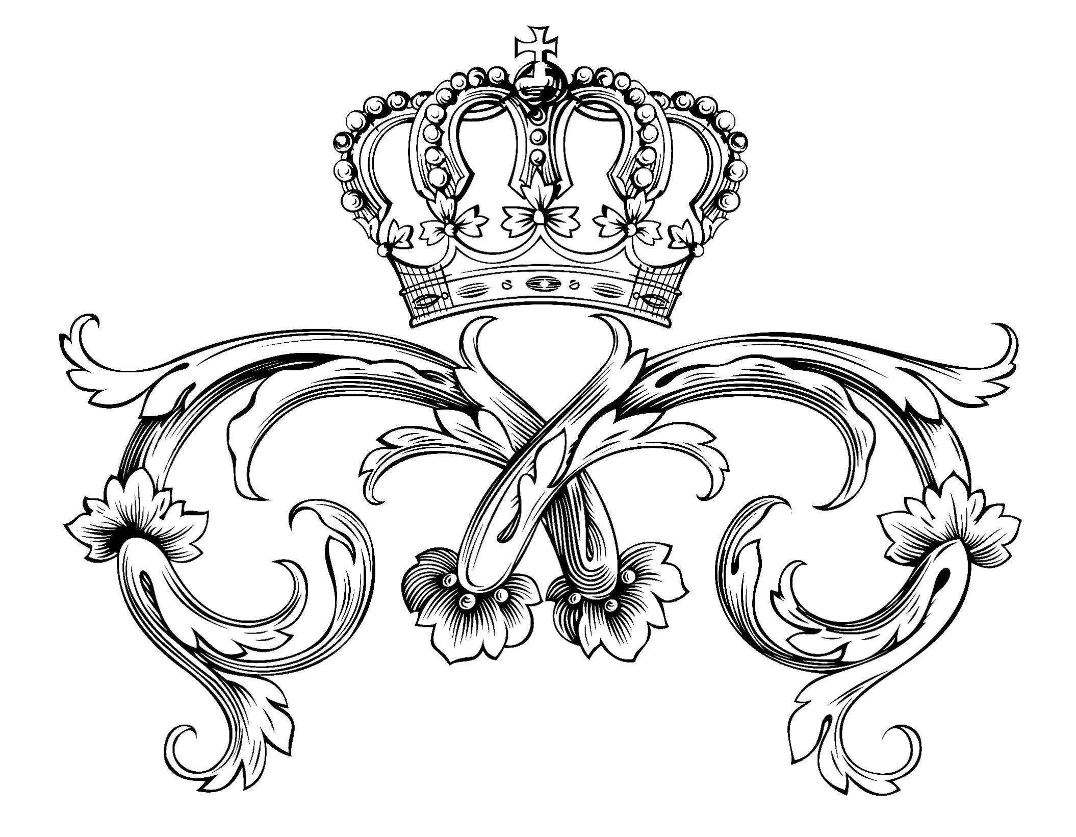 2110x1641 Free Coloring Page Coloring Adult Symbol Royal Crown