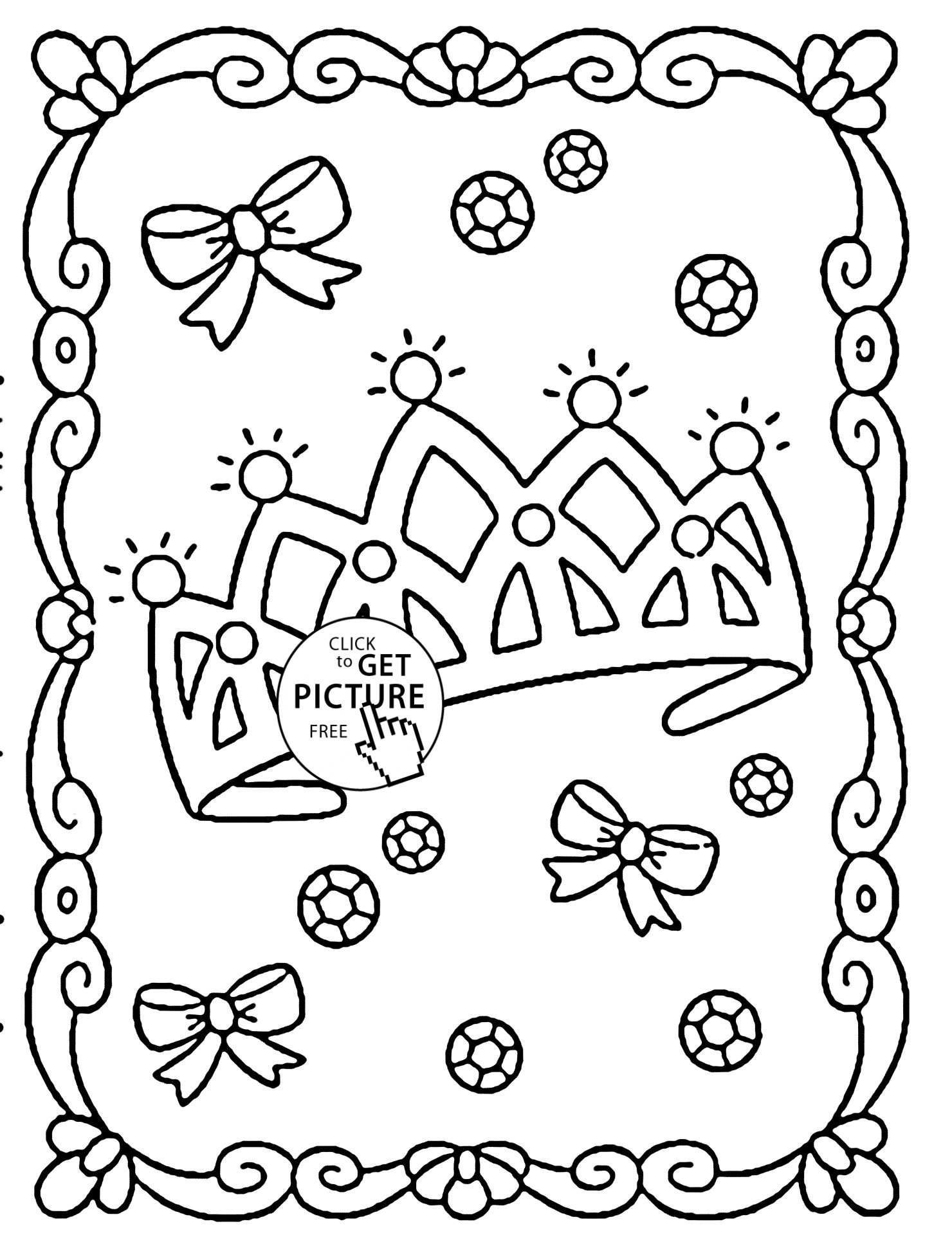 1480x1948 New Free Coloring Page Coloring Adult Symbol Royal Crown