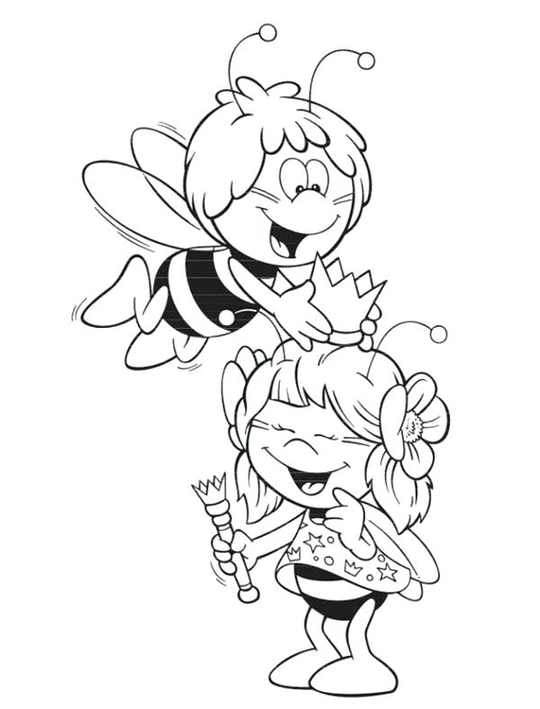 600x787 Crown Coloring Page Bumblebee The Bee Playing With The Royal Crown