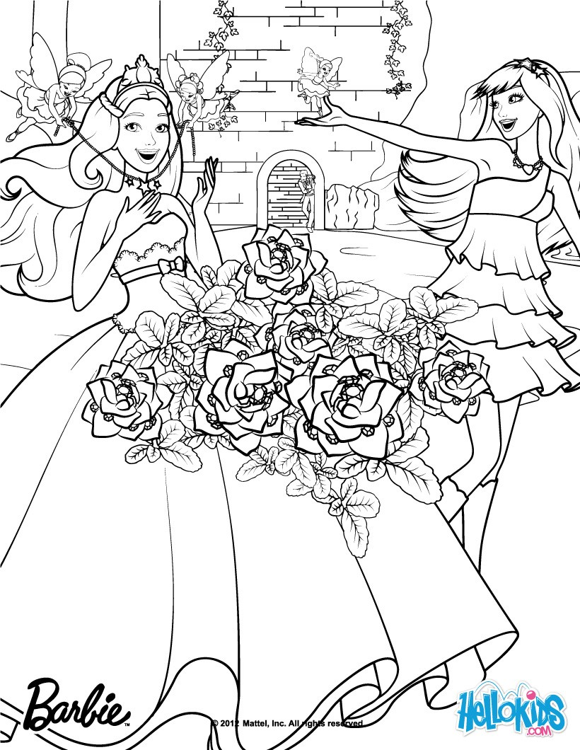 820x1060 Compromise Barbie Rock N Royals Coloring Pages