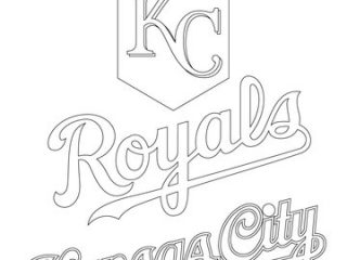 320x240 Kc Colour Pages Kansas City Royals Logo Coloring Page Free