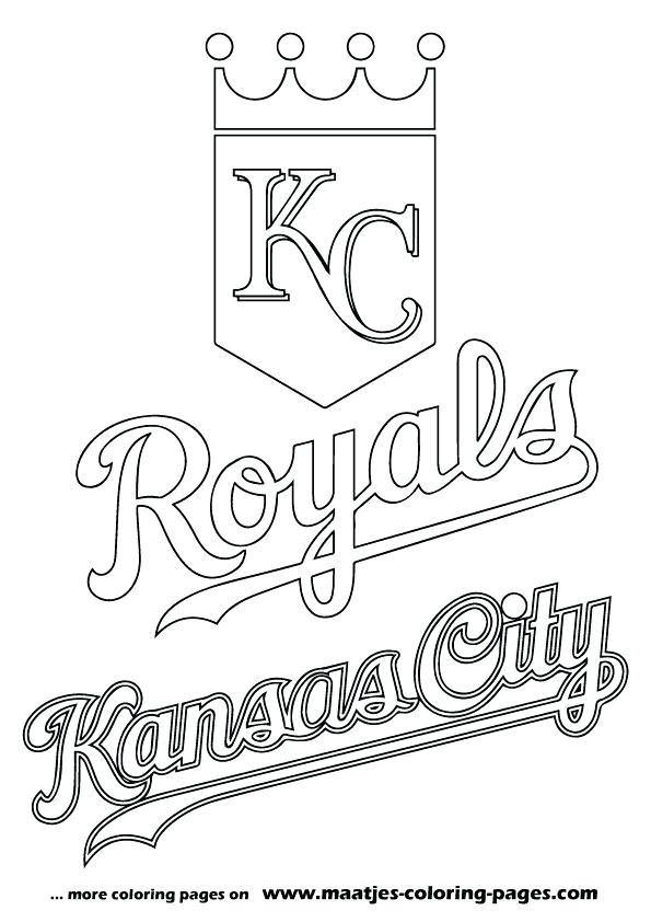595x842 Royals Logo Coloring Pages