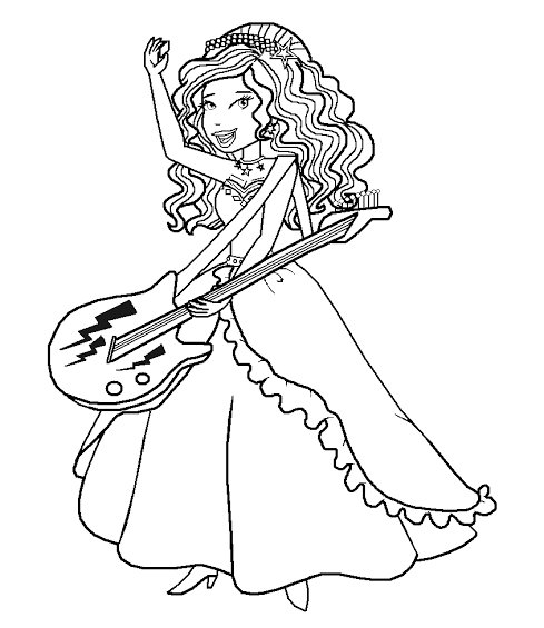 489x565 Barbie Rock N Royals Coloring Pages