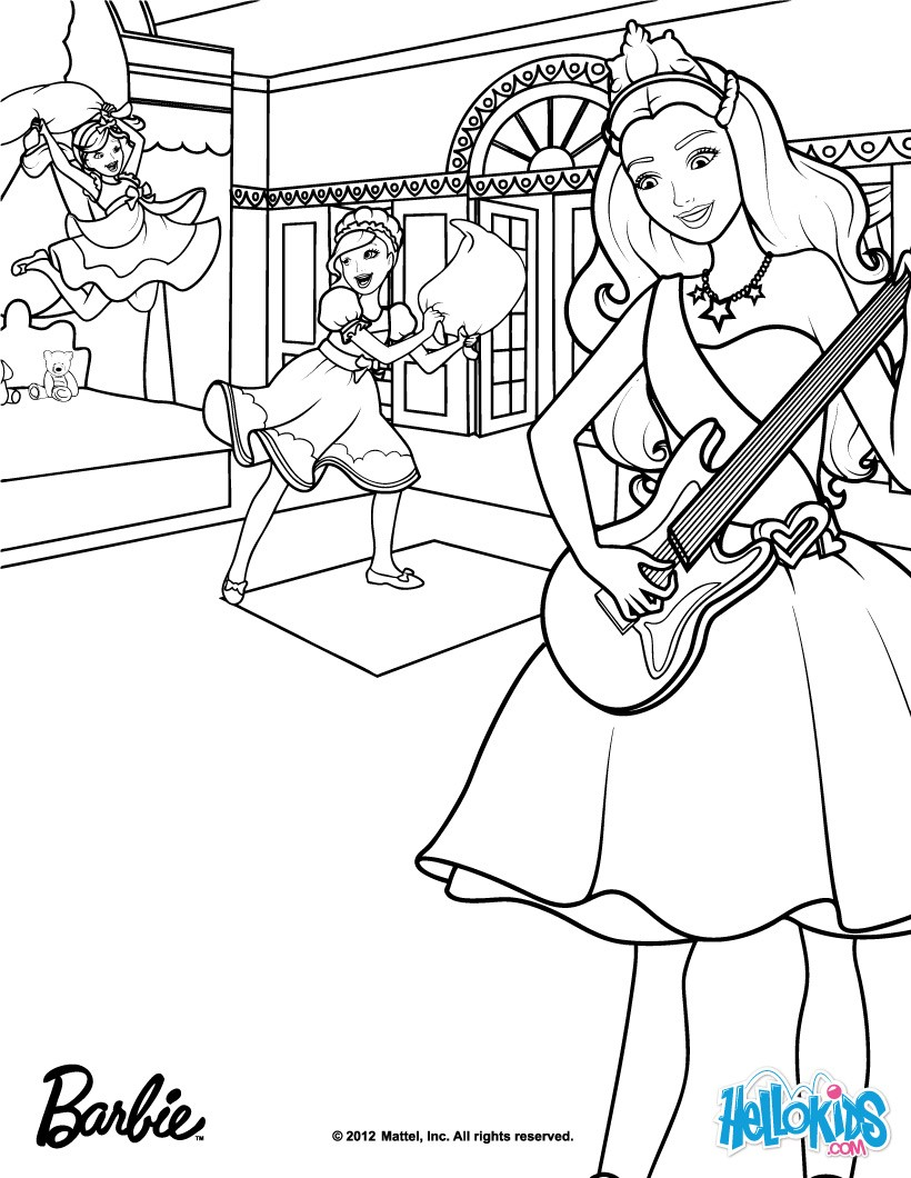 820x1060 Barbie The Princess The Popstar Coloring Pages