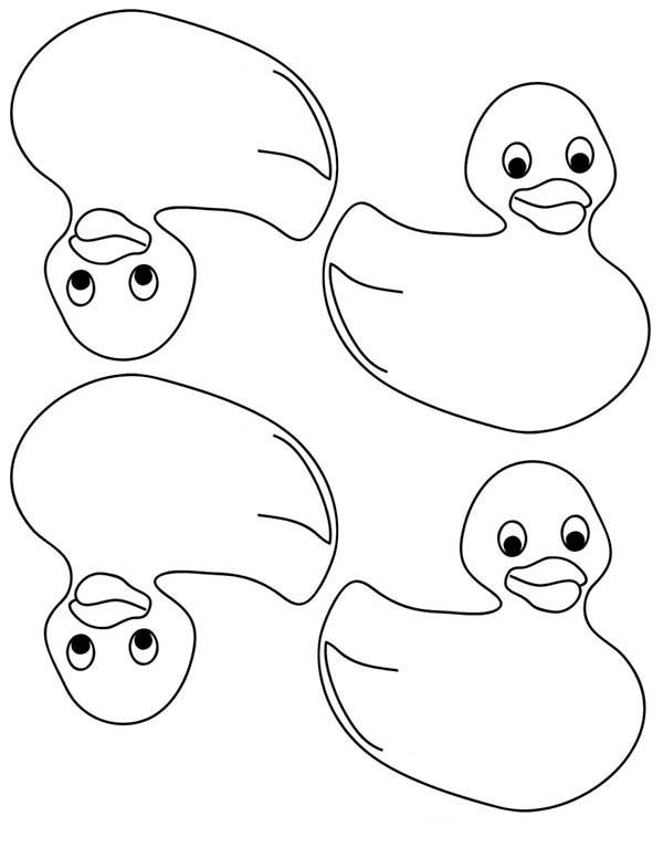 600x776 Rubber Duck Coloring Page Free Download