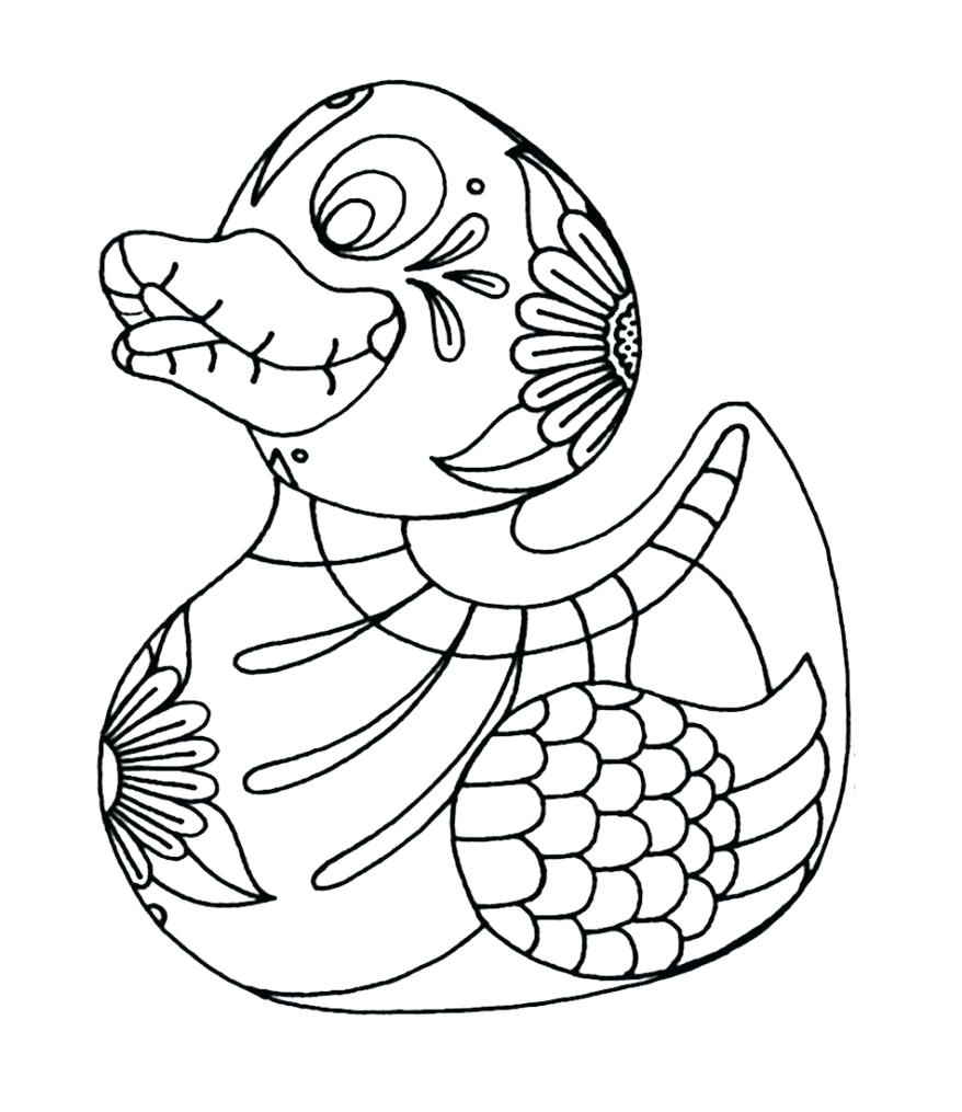 878x1015 Rubber Duck Coloring Page