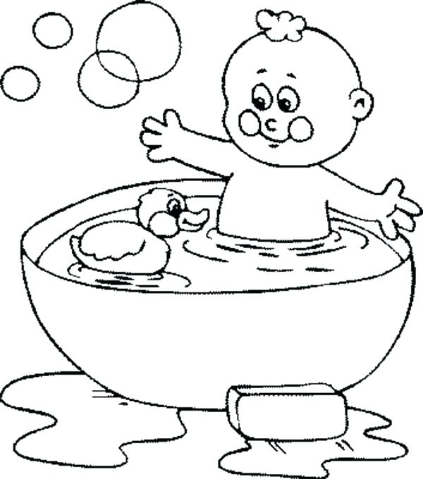 600x680 Rubber Ducky Coloring Page Rubber Duck Coloring Pages X X X