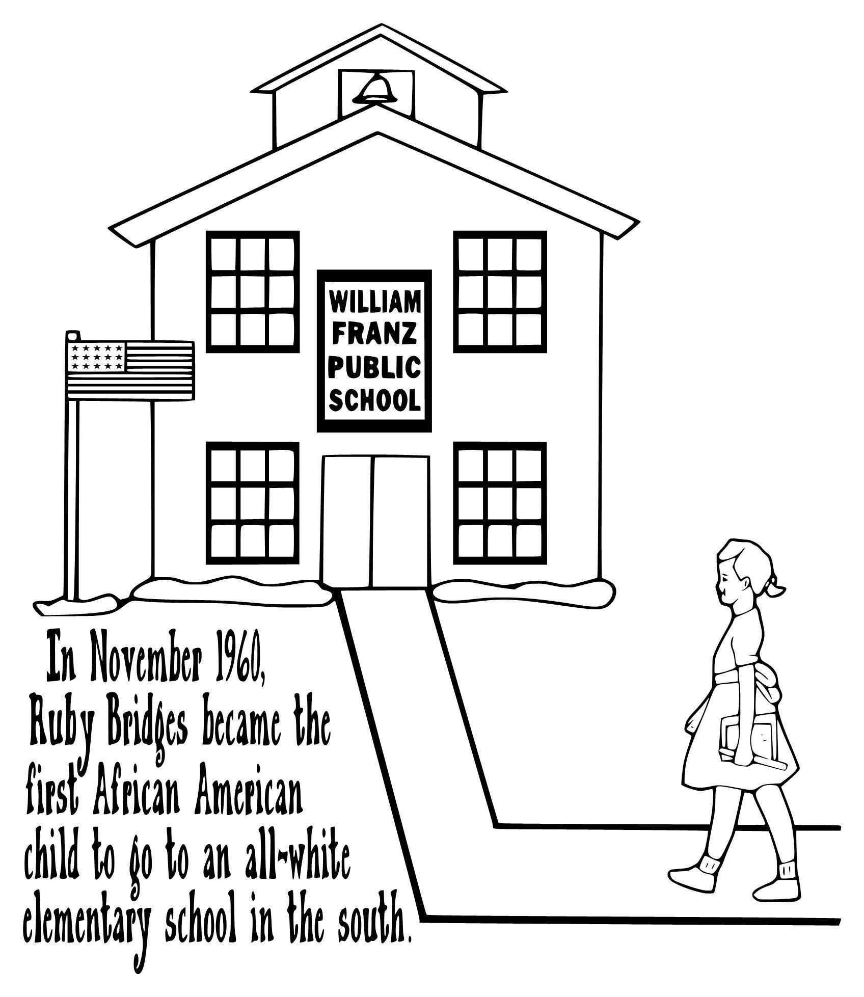 1696x1957 Ruby Bridges Coloring Page