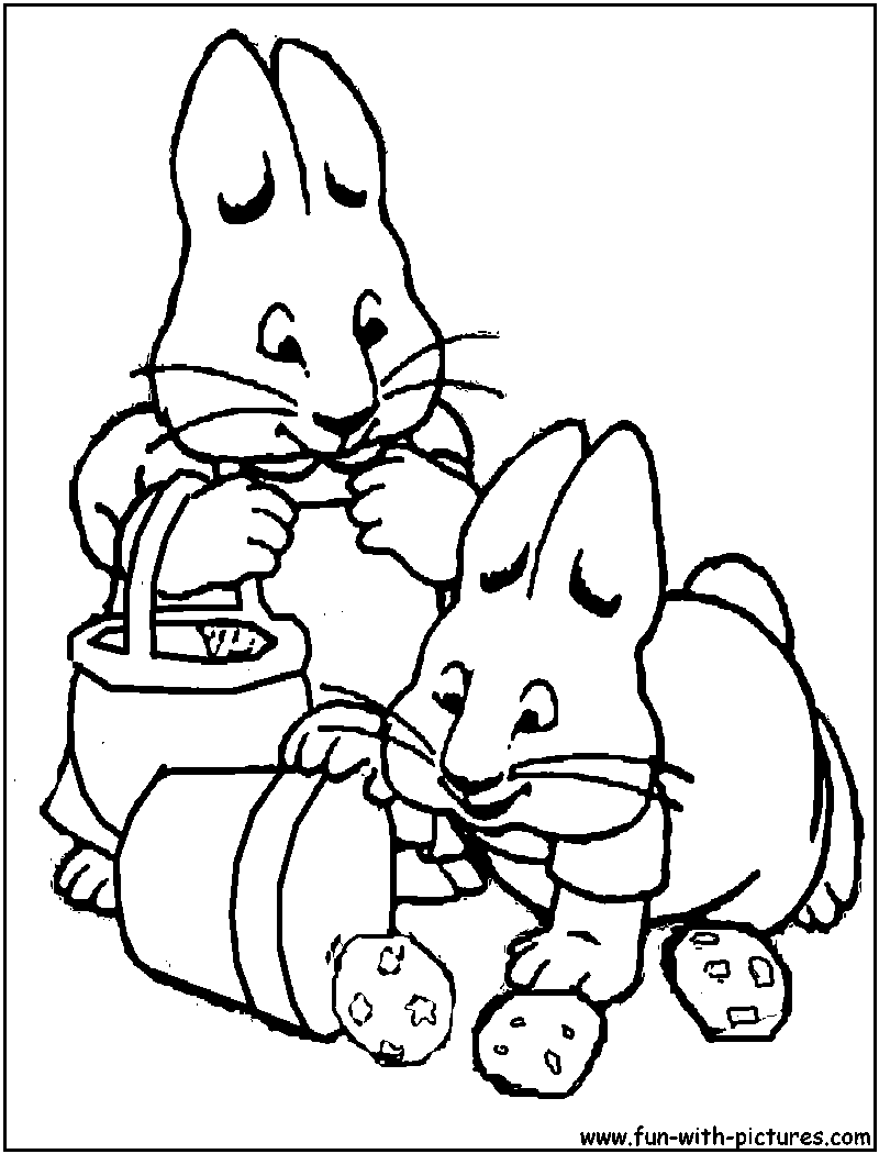 800x1050 Max And Ruby Coloring Pages