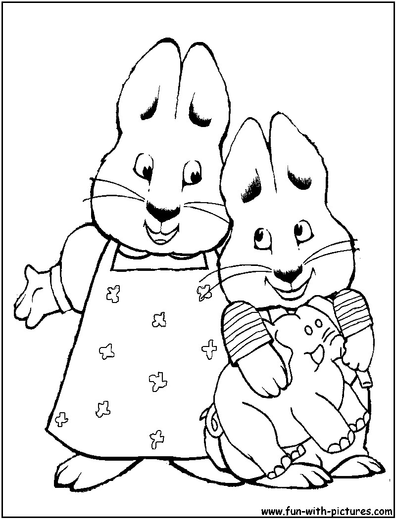 800x1050 Max And Ruby Coloring Pages Free Printable Colouring For Beautiful