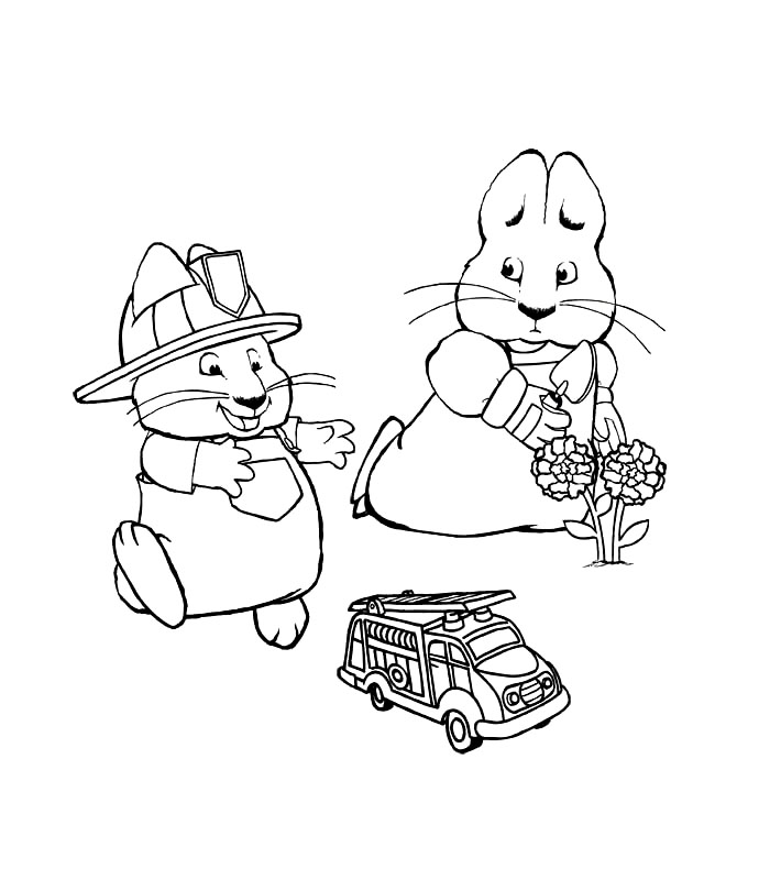 700x800 Free Printable Max And Ruby Coloring Pages For Kids