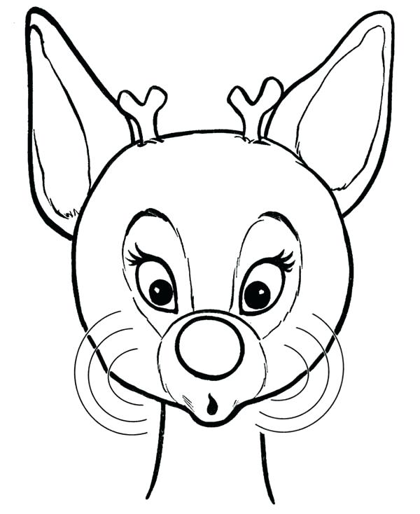 600x734 Reindeer Coloring Page Medium Size Of Coloring Pages Page