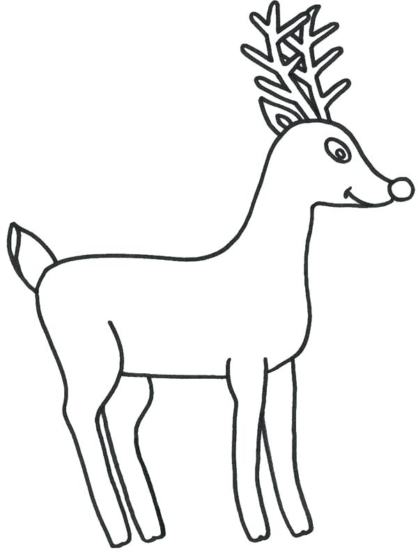 600x794 Rudolph Coloring Picture How To Draw The Red Nosed Reindeer