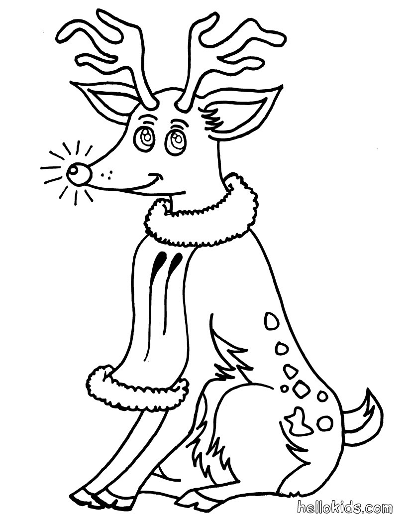 820x1060 Rudolph The Red Nosed Reindeer Coloring Page