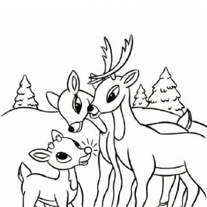 300x300 Rudolph The Red Nosed Reindeer Coloring Pages Rudolphs Family