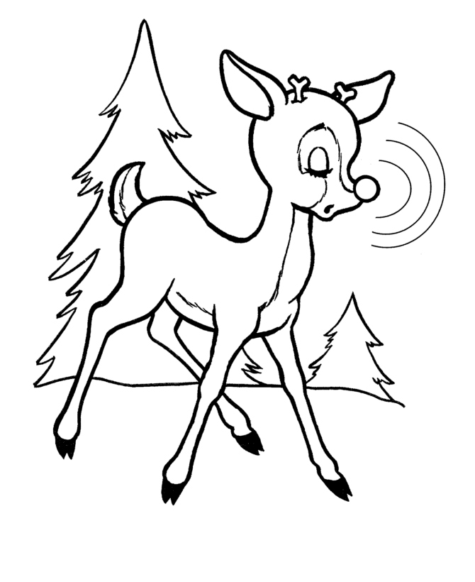 670x820 Rudolph The Red Nosed Reindeer Coloring Pages Luxury Free