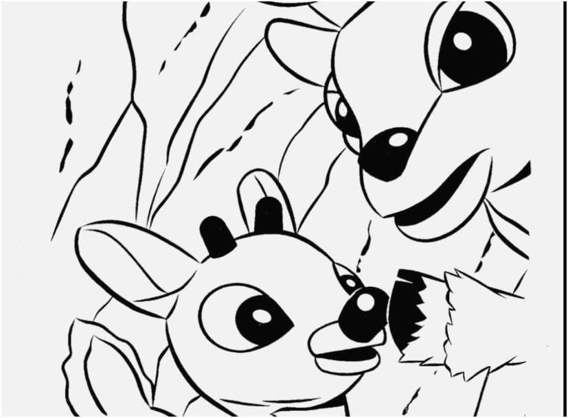827x609 A Good Concept Reindeer Coloring Pages Most Important