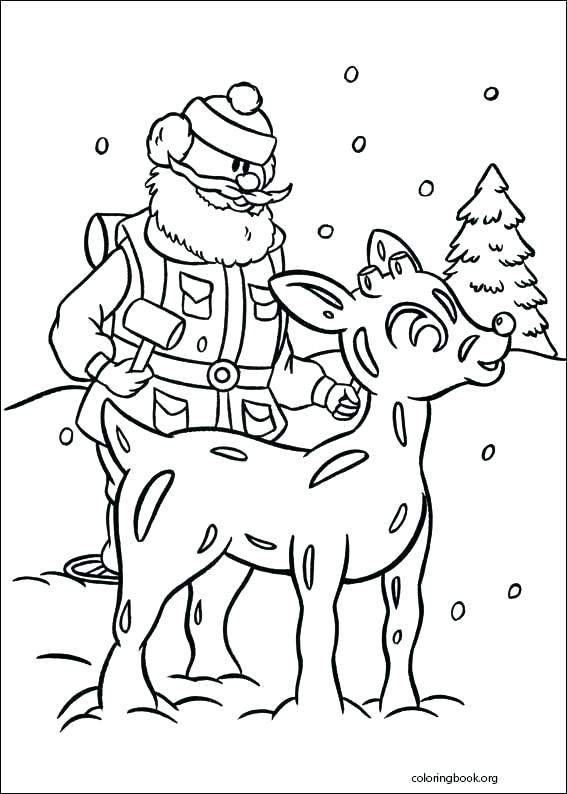 567x794 The Red Nosed Reindeer Coloring Page Rudolf The Rednosed Reindeer