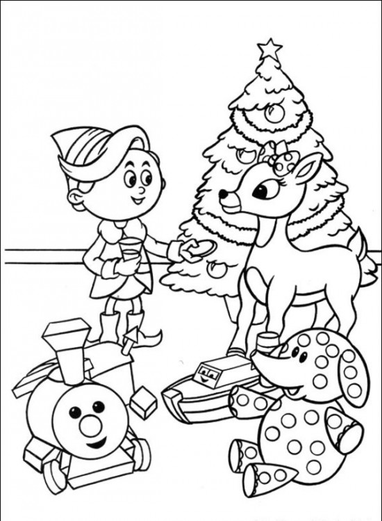 550x749 Characters Rudolph The Red Nosed Reindeer Coloring Book Rudolph