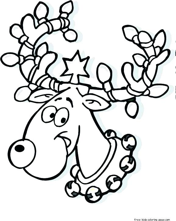 578x725 Rudolph The Red Nosed Reindeer Coloring Page