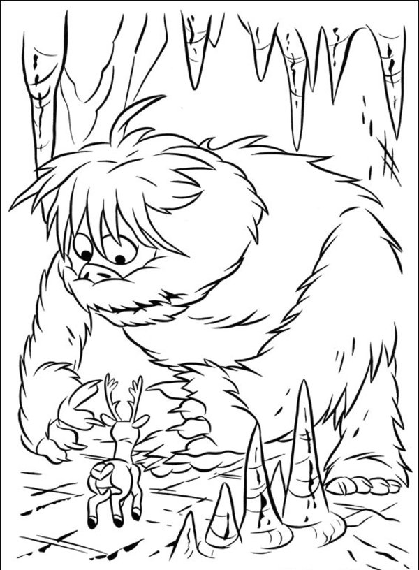 600x816 Abominable Snowman Coloring Pages