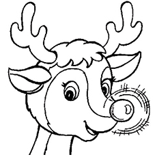 Rudolph And Clarice Coloring Pages