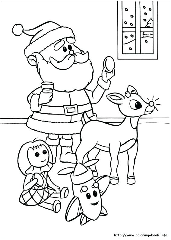567x794 Reindeer Coloring Page Free Rudolph The Red Nosed Reindeer