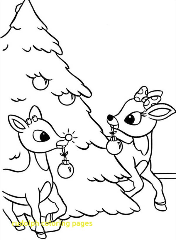 600x816 Rudolph Coloring Pages With Rudolph And Clarice Decorated