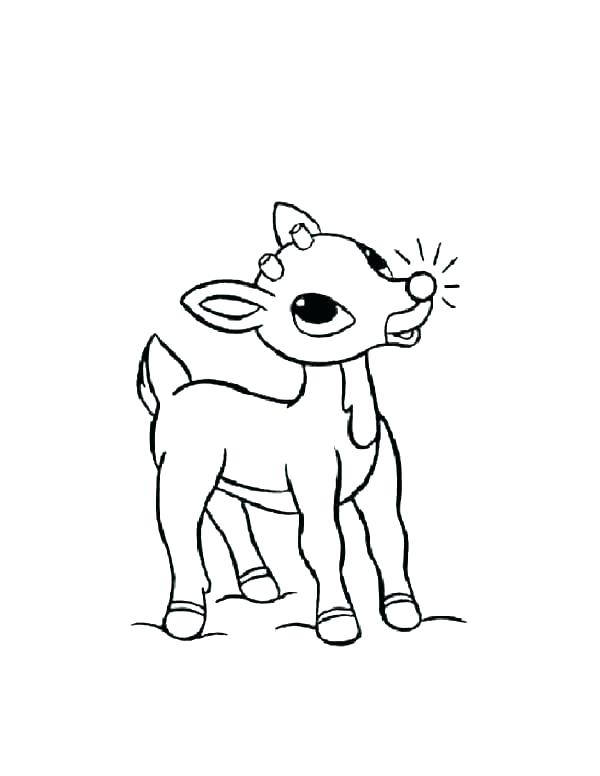 600x776 Coloring Pages Of Rudolph The Red Nosed Reindeer Professional