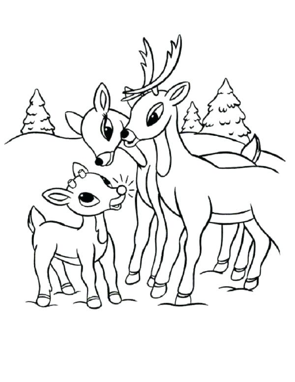600x776 Rudolph And Clarice Coloring Pages Professional