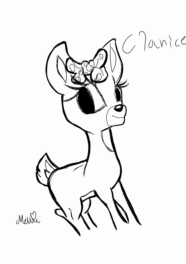 752x1063 Attractive Clarice The Reindeer Coloring Page