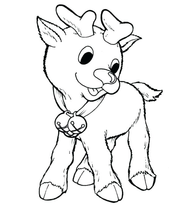 600x667 Little The Red Nosed Reindeer Coloring Page Color Free Rudolph