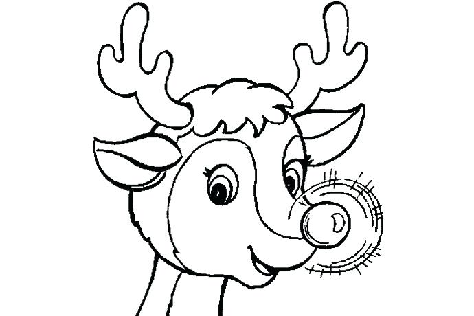 690x460 Rudolph Coloring Picture View Larger Free Rudolph Coloring Page