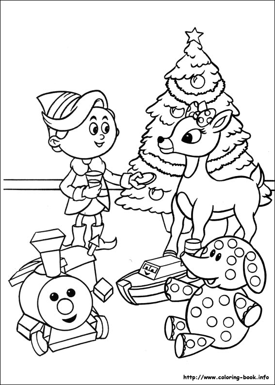 567x794 Rudolph The Red Nosed Reindeer Coloring Picture