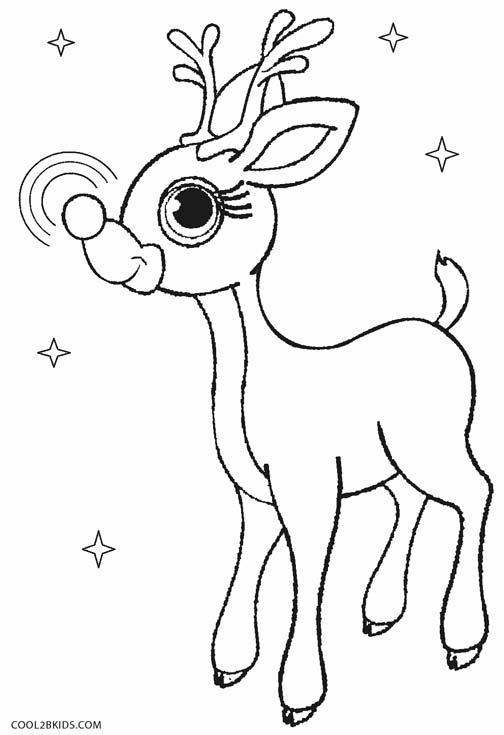 504x735 Printable Rudolph Coloring Pages For Kids