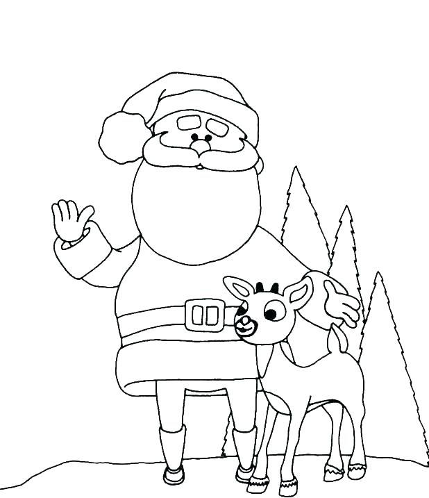 618x717 Rudolph Printable Coloring Pages Coloring Pages Of Reindeer