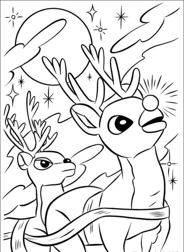 600x819 And Reindeer Coloring Pages Printable Coloring Pages Of Rudolph