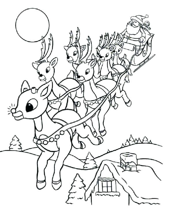 600x776 Original Rudolph Coloring Book Printable Coloring And Coloring