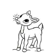 220x220 Rudolph's Wink Coloring Pages