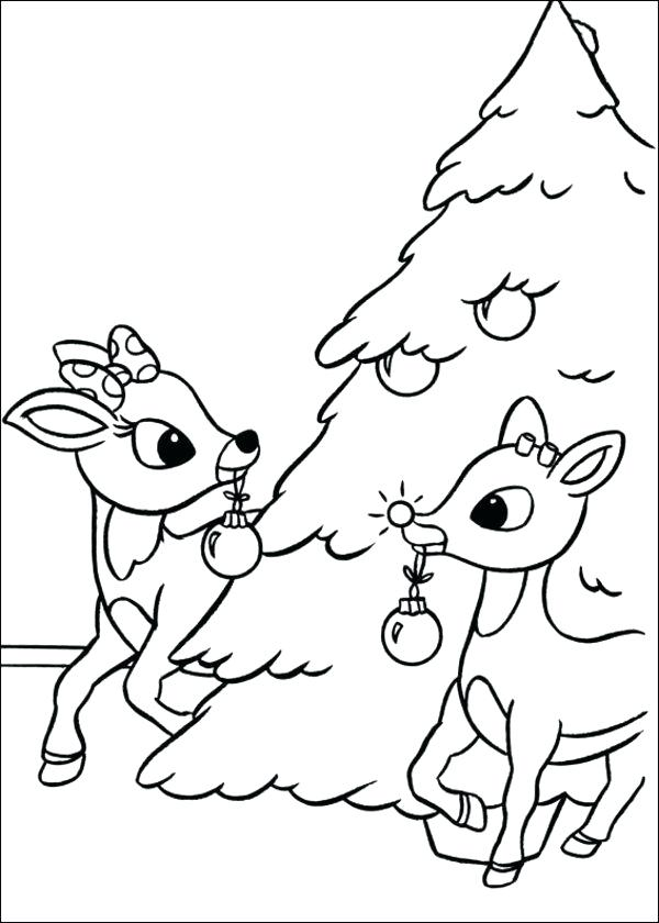 600x840 Rudolph Coloring Pages The Red Nosed Reindeer Coloring Pages Tree