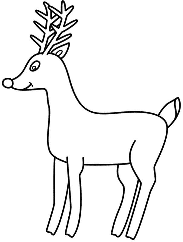 Rudolph The Red Nosed Reindeer Coloring Pages At Getdrawings Com